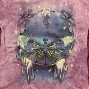The Mountain Purple Dragonfly Shirt